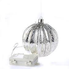 silver mercury glass battery operated ornament light