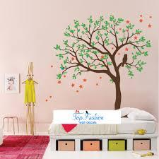 34 tree wall decal for nursery flower tree wall decal tree and hoot star tree wall stickers vinyl decal kids nursery baby room decor