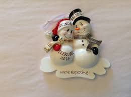 personalized ornament snowman expecting