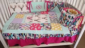 woodland 1 to 4 piece baby nursery crib bedding quilt bumper