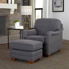 Ottoman Styles Home Styles Magean Grey Polyester Arm Chair With Ottoman 5206 100
