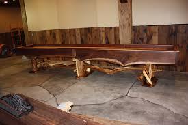 Wood Pool Table Rustic Pool Tables Treemendous Designs
