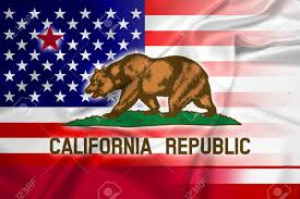California Flag Bear Waving Usa And California State Flag Stock Photo Picture And
