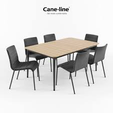 3d core chair and table by cane line cgtrader
