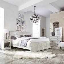 White Self Assembled Bedroom Furniture Dmi Furniture Seaside Lodge Hand Rubbed White King Panel Bed 5523