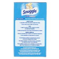 2 count snuggle blue sparkle dryer sheet fabric softener box for
