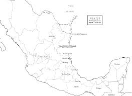 new mexico map coloring page and printable mexico map