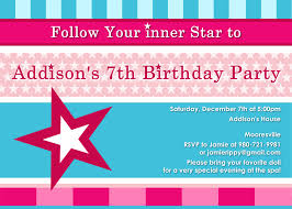 7th birthday invitation wording alanarasbach com