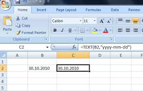 excel date format to mysql how to convert dd mm yyyy date format to yyyy mm dd in excel 2007