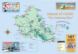 Hawaii Island Map Island Of Oahu Tourist Map Oahu Hawaii U2022 Mappery