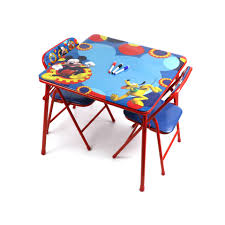 Mickey Mouse Kids Table And Chairs Disney Mickey Mouse Erasable Activity Table Set Walmart Com