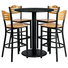 High Bar Table And Stools High Top Bar Tables Set Of High Top Restaurant Cafe Bar
