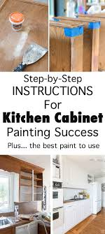 Painting Kitchen Cabinets Tips To Ensure Success In My Own Style - Best paint finish for kitchen cabinets