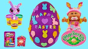 littlest pet shop easter eggs play doh easter egg opening shopkins littlest pet