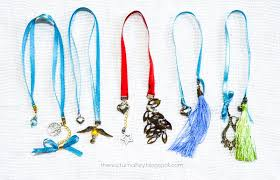 ribbon bookmarks diy tutorial turn your dangling earrings into ribbon
