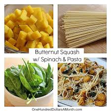 thanksgiving recipes butternut squash with spinach and pasta