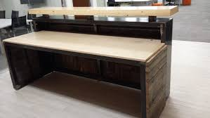 Rustic Reception Desk Modern Rustic Executive Reception Desk Hand Crafted From
