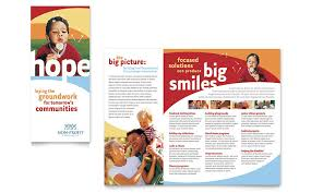 brochure templates adobe illustrator community non profit brochure template word publisher