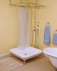 Clawfoot Tub Shower Curtain Rod You Can Make Yourself How To Shower When You Only Have A Bathtub
