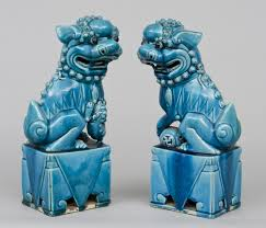 turquoise foo dogs for sale product pair turquoise foo dogs