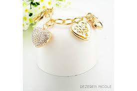 chain link charm bracelet images Heart soul austrian crystal chain link charm bracelet gold jpg