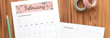printable monthly planner 2016 free february 2016 free printable monthly planner page clementine