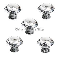 China Cabinet Hardware Pulls From Us 5 X 40mm Clear Crystal Door Knob For Home Amp Garden