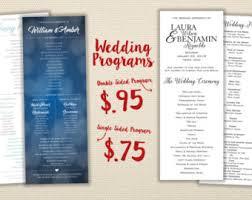 cheap wedding programs cheap program etsy