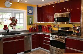 Red Cabinet Kitchen 30 Colorful Kitchen Design Ideas From Hgtv Hgtv Kitchen Design