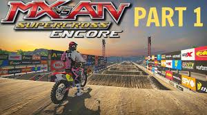 how to start motocross racing mx vs atv supercross encore gameplay walkthrough part 1 ps4