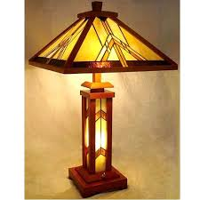 Colored Glass Table Lamps Wood Lamp Base Mission Mission Wood Stained Glass Tiffany Table