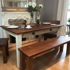 Reclaimed Wood Dining Table And Chairs Handcrafted Reclaimed Wood Dining Table