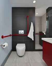 red and black bathroom sets white top brown wooden vanity black