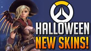 overwatch skins halloween new overwatch skins halloween update loot box opening youtube