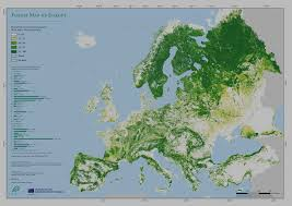 Map Of Eu Forest Map Of Europe Proportion Of Forest From Land Area Europe