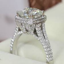 aliexpress buy new arrival hight quality white gold brilliance 2 8 carat cushion cut 14k 585 white gold engagement