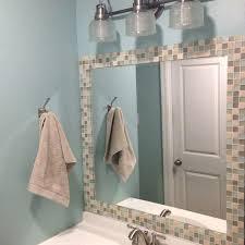 framed bathroom mirrors brushed nickel brushed nickel framed bathroom mirror metal oval wall west elm c