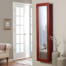 Bedroom Armoire by Standing Mirrored Jewelry Armoire Wall Mounted Full Length Mirror