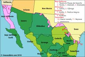 map us mexico border states northern mexican border s new daylight saving plan