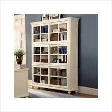 Shelves With Glass Doors by Furniture White Wooden Book Cabinet With Glass Door Added Grey