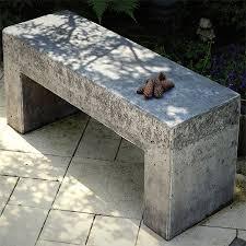 home dzine garden concrete or wood garden bench ideas