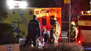 montreal canada december 2014 4k uhd fireman performing cpr
