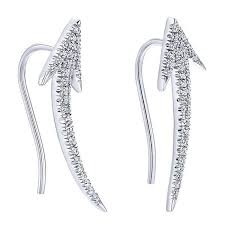 climber earrings diamond arrow earcuff 1 4cttw diamond climber earrings
