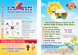 admissions open for preschool nursery summer camp and child care