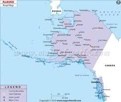 alaska major cities map buy alaska road map