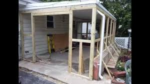 Outdoor Screen House by Screen House Construction Ideas Youtube