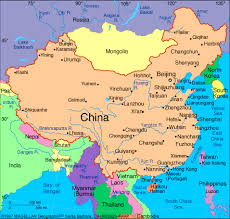 rivers in china map map yellow river