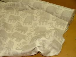 Elephant Curtains Uk Elephant Natural Linen Woven Cotton Jacquard Curtain Upholstery