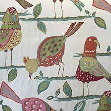 Upholstery Fabric With Birds Looney Birds Carnival Sw59094 Discount Fabrics