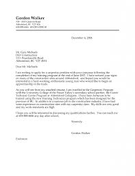 cover letter for apprenticeship sample of application letter for